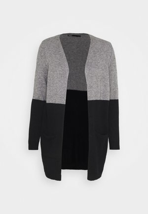 ONLQUEEN LONG  - Cardigan - medium grey melange/black