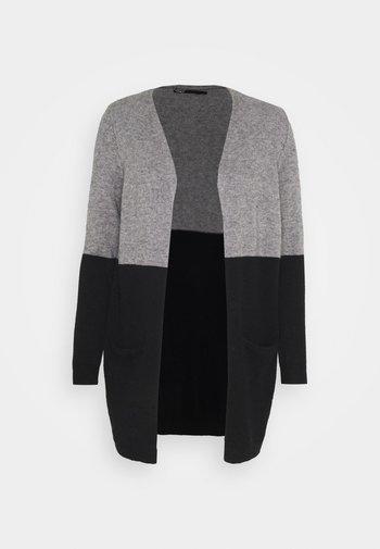 ONLQUEEN LONG CARDIGAN - Kardigan - medium grey melange/black