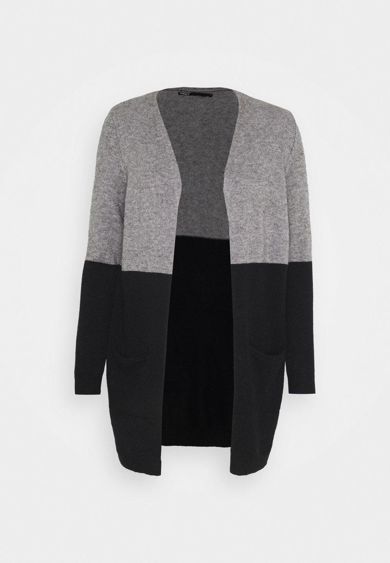ONLY - ONLQUEEN LONG CARDIGAN - Cardigan - medium grey melange/black