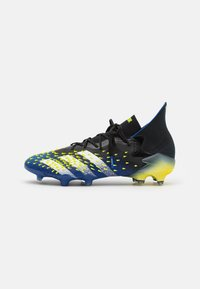 adidas Performance - PREDATOR FREAK .1 FG - Moulded stud football boots - core black/footwear white/solar yellow - 0