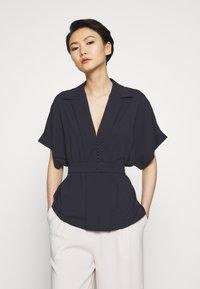 HUGO - CELONA - Button-down blouse - open blue - 2