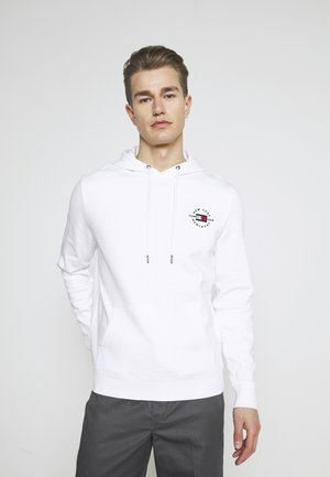 CIRCLE CHEST HOODY - Sweat à capuche - white