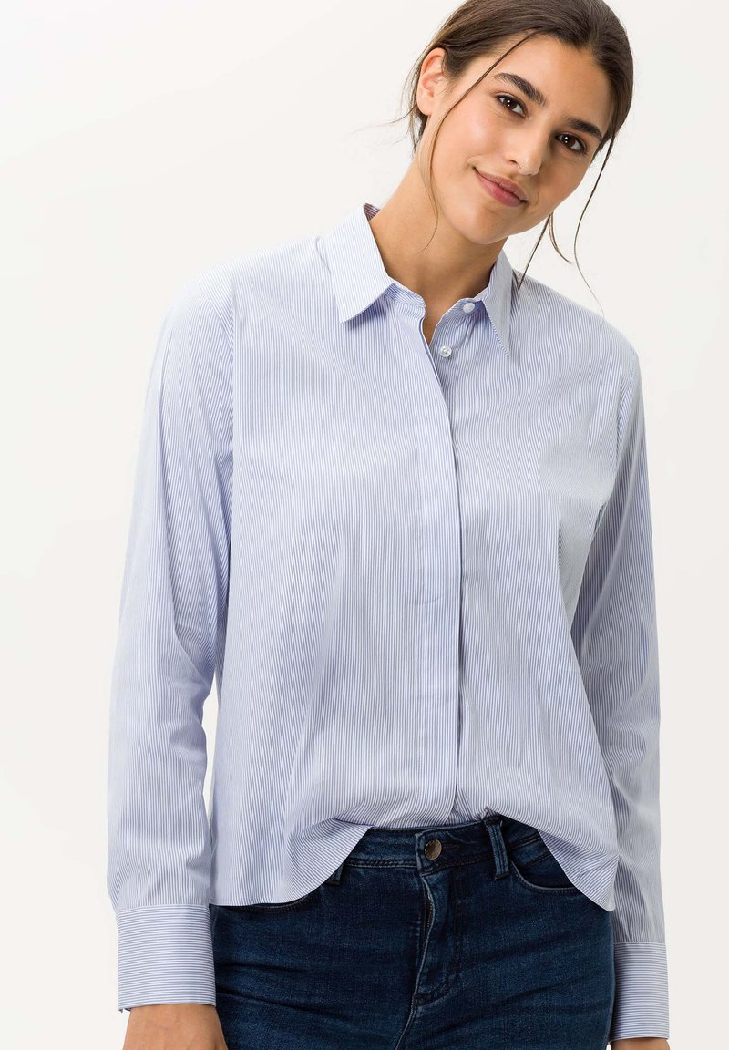 BRAX - STYLE VENERA - Button-down blouse - aquamarine