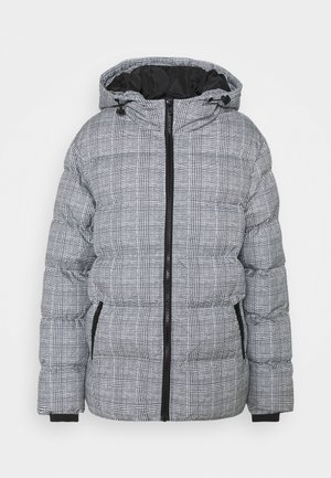 LADIES GLENCHECK PUFFER JACKET - Winter jacket - white/black