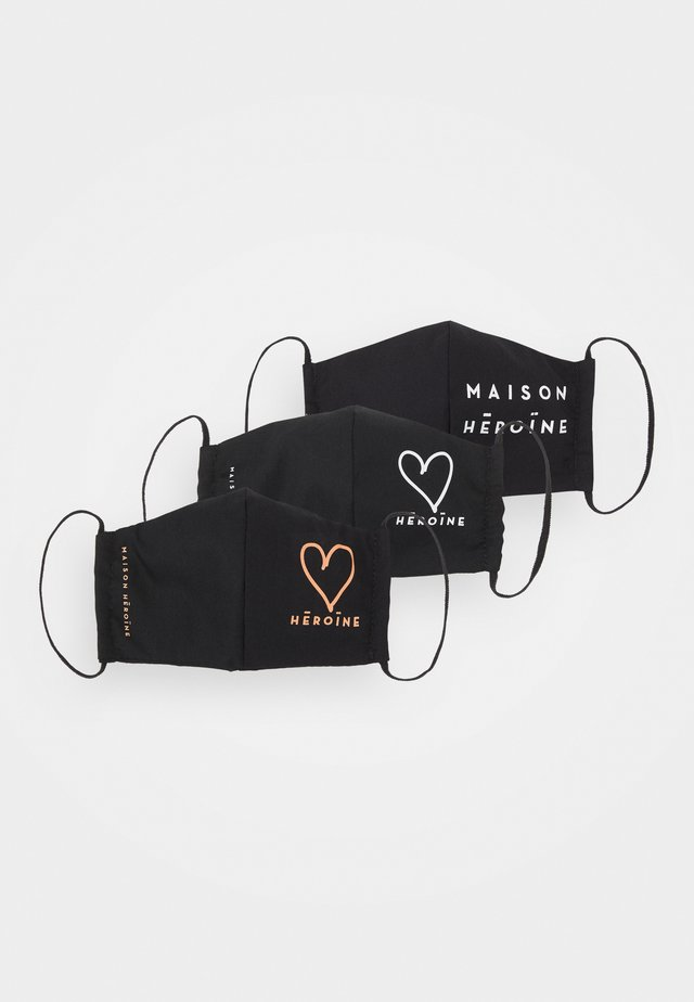 HEART LOGO 3 PACK - Stofmaske - black