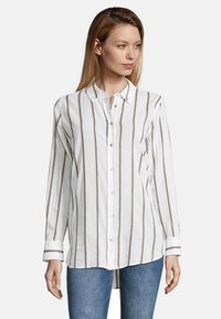 Cartoon - MIT KRAGEN - Button-down blouse - white/grey - 0