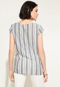 comma casual identity - Blouse - black colour stripes - 2