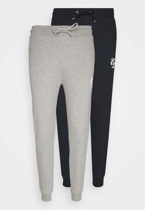 SIGNATURE 2 PACK - Tracksuit bottoms - grey/navy