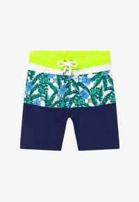 Sunuva - TEEN BOYS TROPICAL PALM  - Swimming shorts - navy - 2