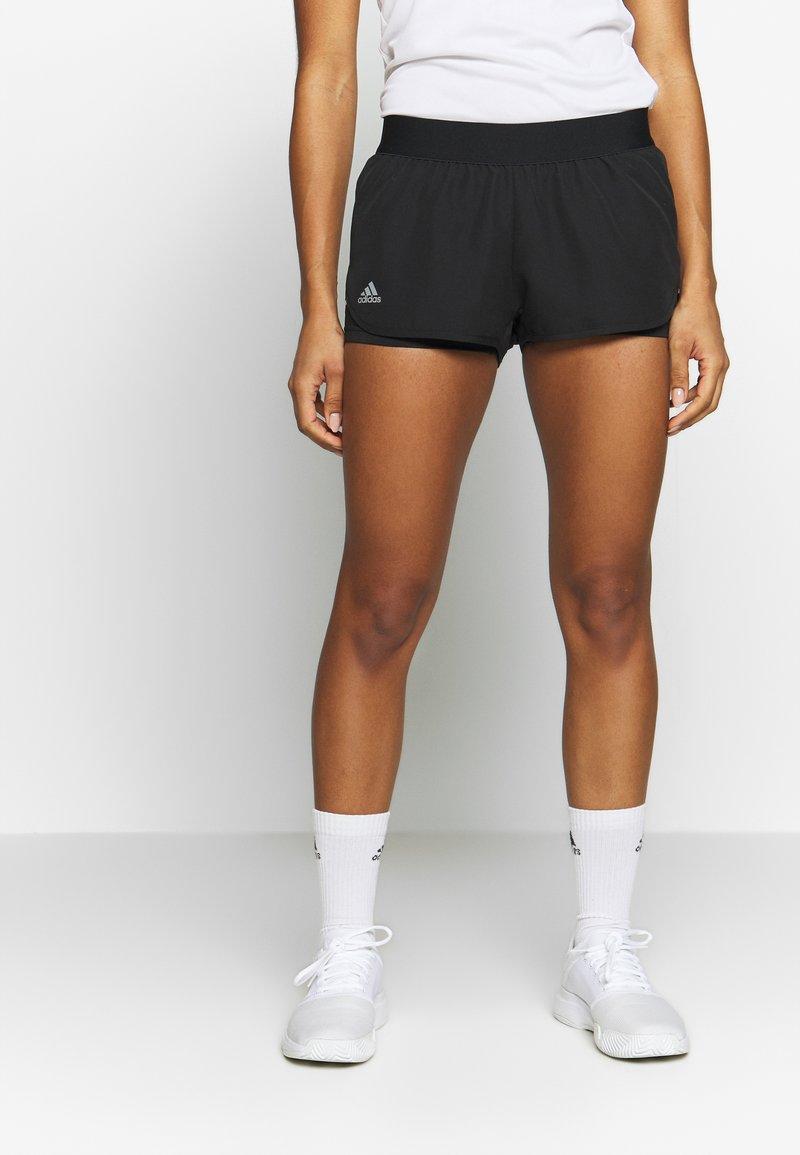 adidas Performance - CLUB - Sports shorts - black/silver/white