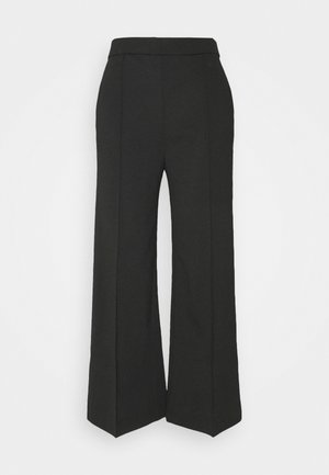 WIDE LEGGED TROUSER - Bukse - black