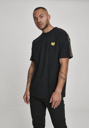 MISTER TEE WU-WEAR SIDETAPE TEE - T-shirt imprimé - black
