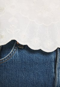 Rich & Royal - LONGSLEEVE WITH BROIDERIE ANGLAISE - Blouse - pearl white - 7