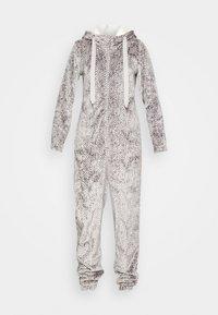 Hunkemöller - ONESIE HERRINGBONE - Pyjamas - warm grey melee - 4