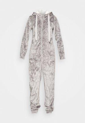 ONESIE HERRINGBONE - Pyjamas - warm grey melee