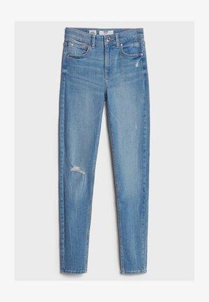 MIT HOHEM BUND  - Jeans Skinny Fit - blue denim
