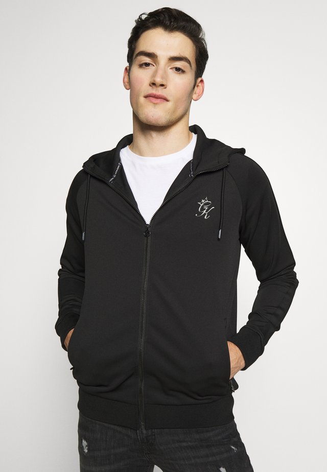 BASIS TRACKSUIT  - veste en sweat zippée - black