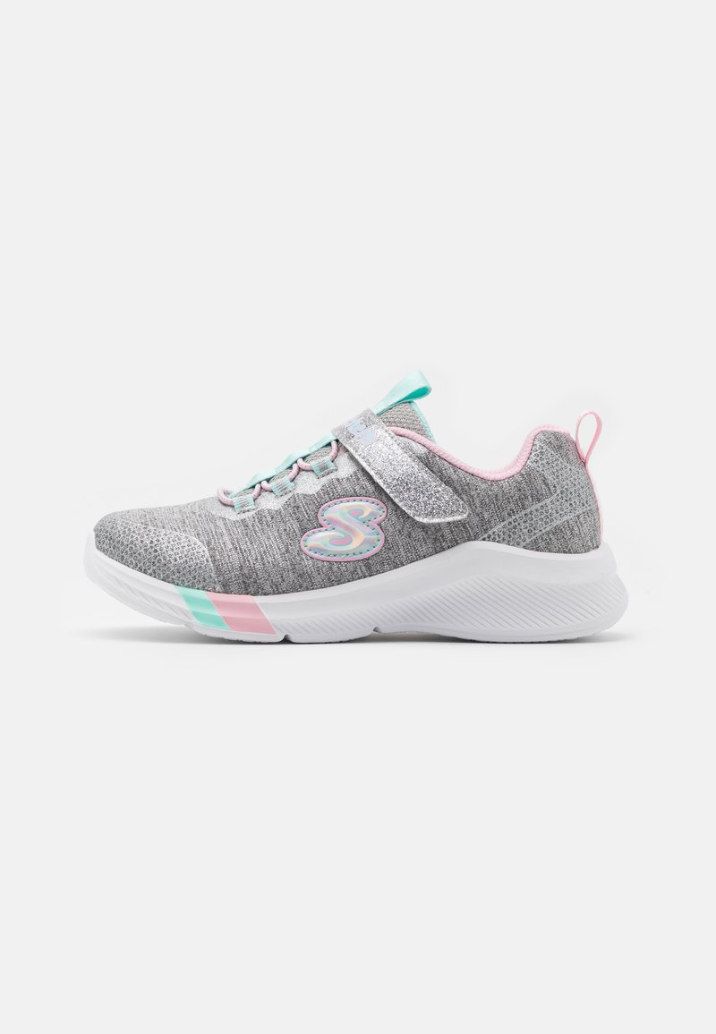 Skechers - DREAMY LITES - Trainers - light grey heathered/aqua/pink