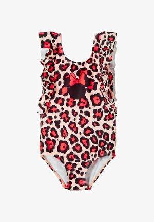 DISNEY MINNIE MOUSE - Swimsuit - pink/black