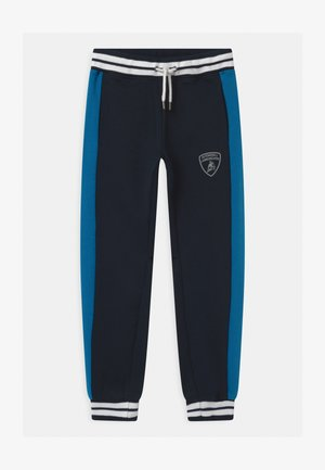 COLOR BLOCK - Tracksuit bottoms - blue hera