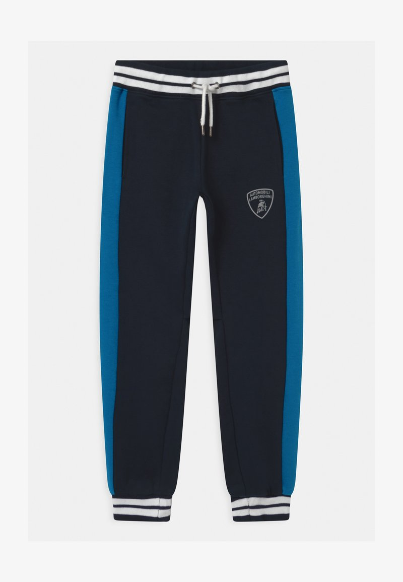 Automobili Lamborghini Kidswear - COLOR BLOCK - Tracksuit bottoms - blue hera