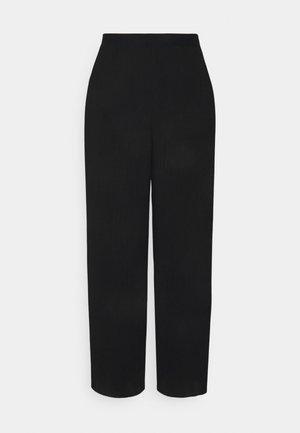 VMYOLU PLEAT WIDE PANT  - Trousers - black