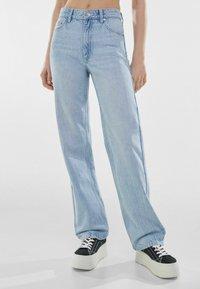 Bershka - Straight leg jeans - light blue - 0