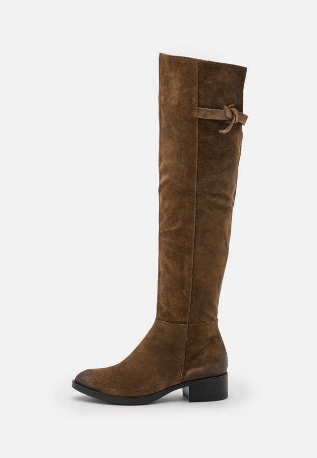 Over-the-knee boots - mud
