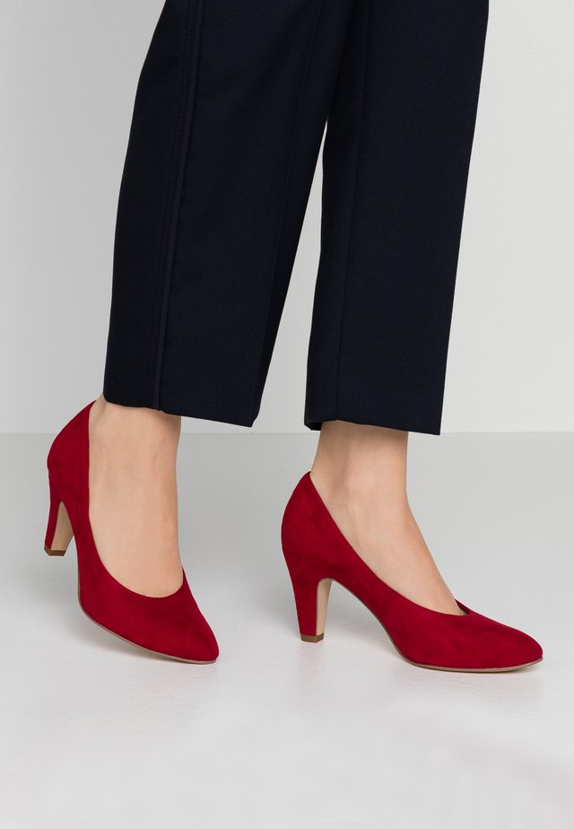 COURT SHOE - Classic heels - lipstick