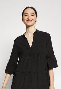 Vero Moda - VMHELI 3/4  WVN GA COLOR - Day dress - black - 4