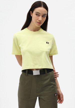PORTERDALE CROP - Basic T-shirt - mellow green