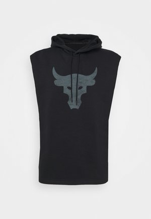 PROJECT ROCK HOODIE - Sweatshirt - black