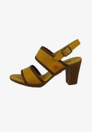 Sandalen met hoge hak - mostaza