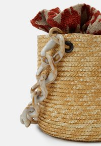 Hermina Athens - BASKET BROCADE MARBLE CHAIN - Handbag - natural/orange