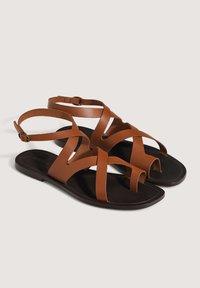 OYSHO - Sandals - brown - 4