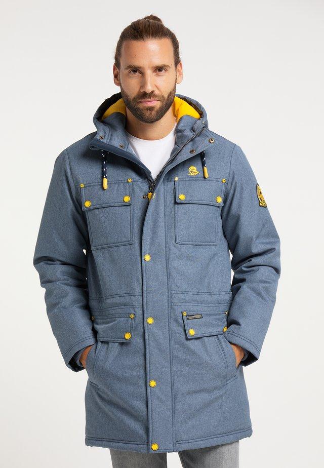 Zimní kabát - marine melange