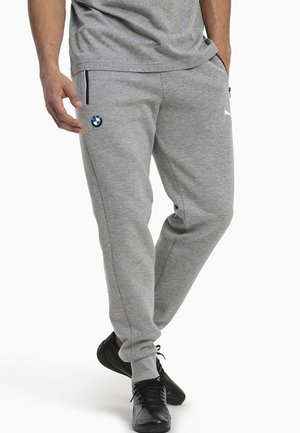 BMW M MOTORSPORT KNITTED MEN'S SWEATPANTS MALE - Tracksuit bottoms - medium gray heather