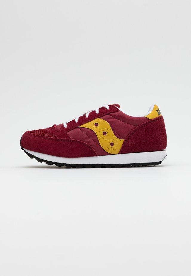 JAZZ ORIGINAL VINTAGE - Sneakers laag - burgundy/mustard