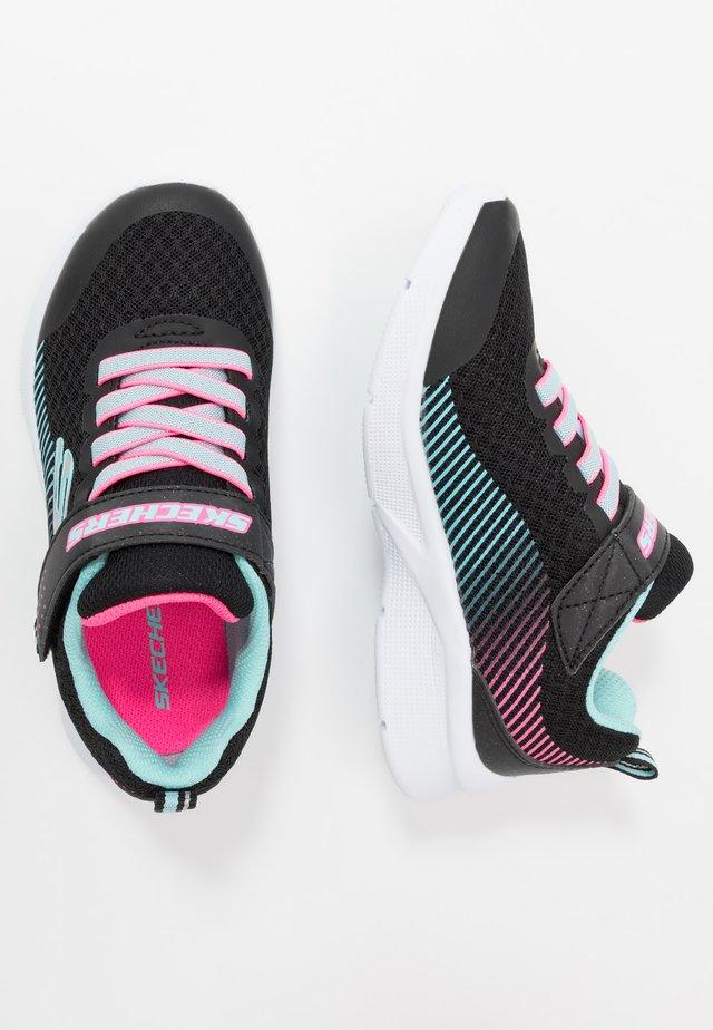 MICROSPEC - Sneakers laag - black/aqua/neon pink