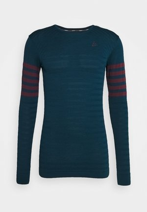 DRY FUSEKNIT BLOCKED - T-shirt de sport - navy