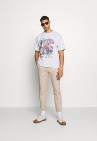 Jaded London - WYOMING - Camiseta estampada - grey marl - 1