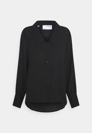 SLFDORIS - Button-down blouse - black