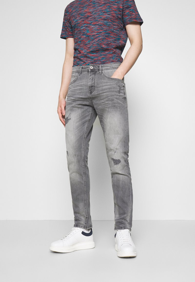 TOM TAILOR DENIM - TAPERED CONROY  - Jeans Tapered Fit - mid stone grey