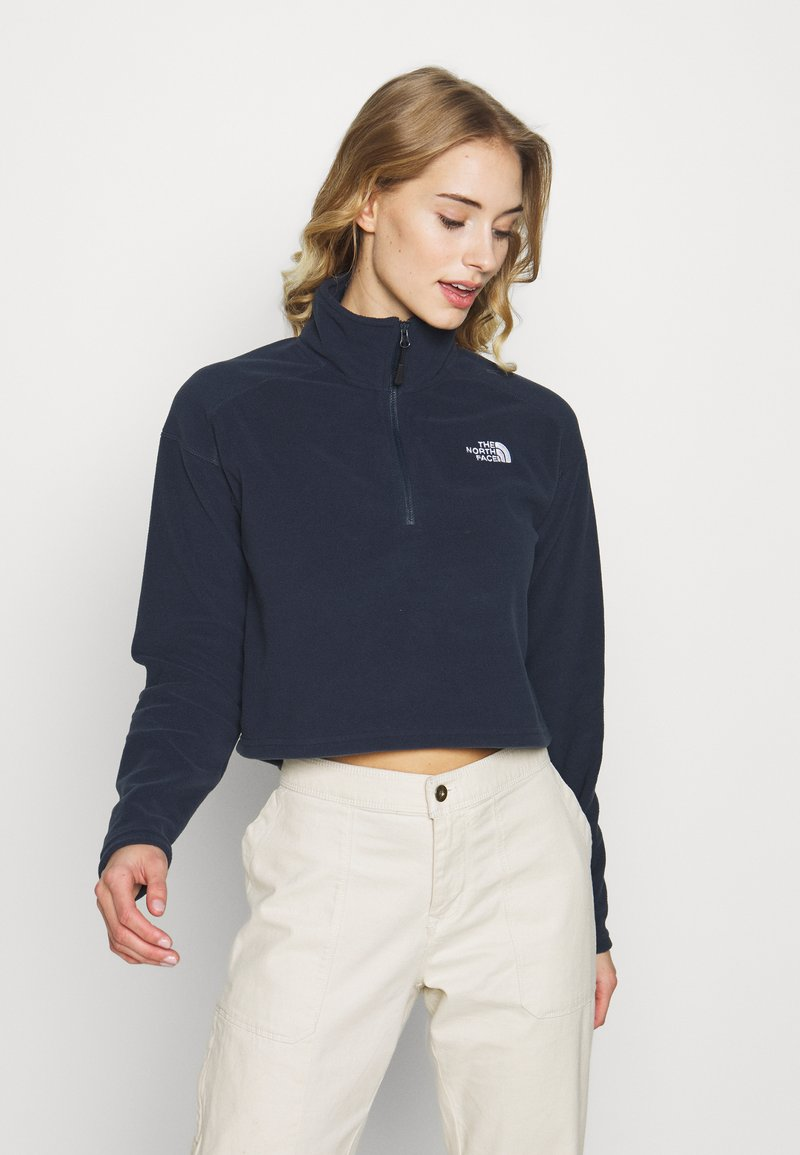 The North Face - GLACIER CROPPED ZIP - Fleecová mikina - urban navy