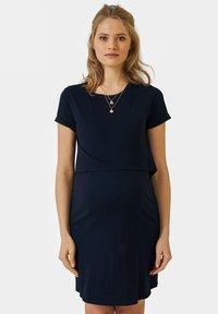 Vertbaudet - Jersey dress - blue - 0