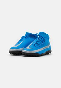 Nike Performance - JR PHANTOM GT CLUB DF TF UNISEX - Astro turf trainers - photo blue/metallic silver/rage green - 1