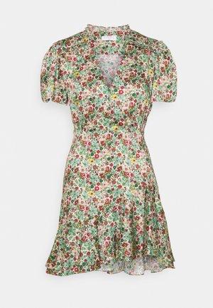 Shirt dress - vert/rose
