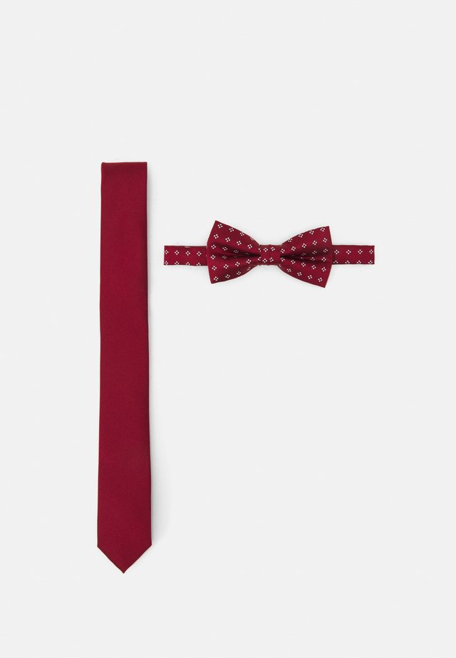 SET - Kravata - dark red