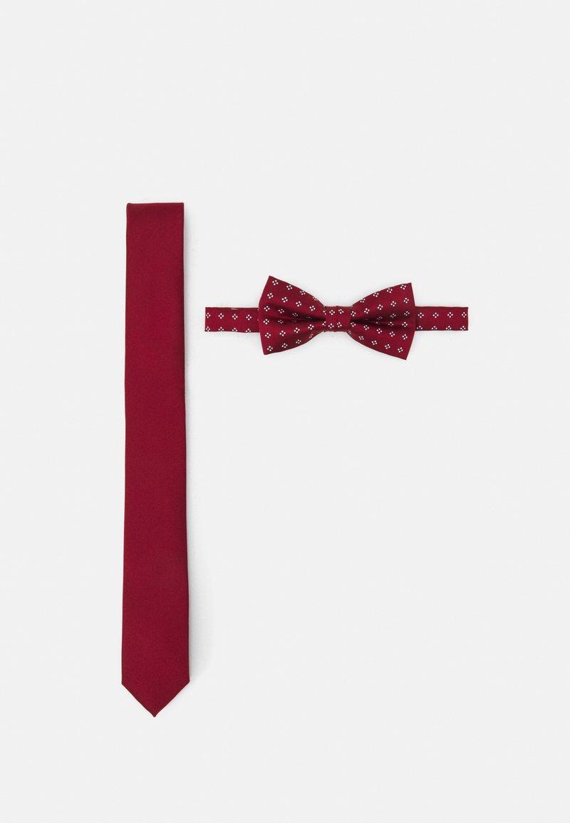 Pier One - SET - Tie - dark red