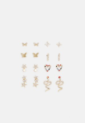 PCWILD EARSTUDS 8 PACK - Pendientes - gold-coloured
